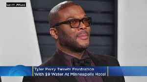 Tyler Perry Gets 'Mad As Hell' Over $9 Bottled Water At Minneapolis Hotel [Video]