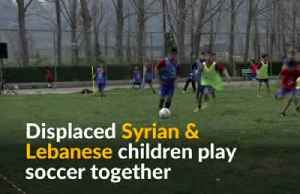 Soccer unites Lebanese and Syrian refugee children [Video]