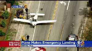 Small Plane Makes Emergency Landing In Signal Hill; No Injuries, Leaks Reported [Video]