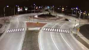Wisconsin Driver Arrested After Careening Across Roundabout Into Taco Bell [Video]