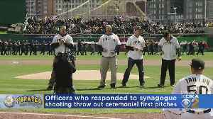 Officers Who Responded To Synagogue Shooting Throw Out Ceremonial First Pitches [Video]