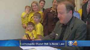 After Months Of Fighting, So-Called Lemonade Stand Bill Is Now Law [Video]