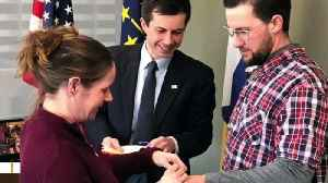 Pete Buttigieg Officiates Wedding For Couple Just Before Woman Delivers Baby [Video]