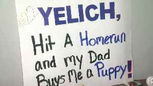 A Christian Yelich homerun could get 6-year-old a new puppy [Video]