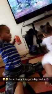 Big Brother Doesn't Want Twin Baby Sisters to Twerk [Video]