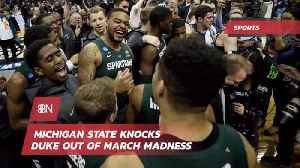 Michigan State Waves Goodbye Number 1 Duke [Video]