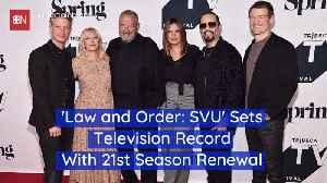 Law And Order: SVU Has Been Renewed For The 21st Time [Video]
