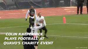 Colin Kaepernick Gets A Football Gig At A Charty Event [Video]