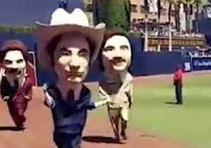 San Diego Padres Stays Classy With Anchorman-Themed Mascot Race [Video]