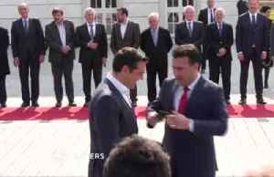 Greek and North Macedonian PMs take historic selfie in Skopje [Video]