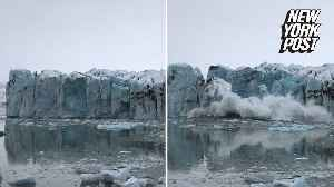 Glacier collapse sends tourists running for their lives [Video]