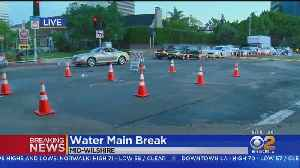 Stretch Of Fairfax Closed After Water Main Break [Video]