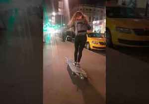 Adapted Ironing Board Proves to Be Too Hot for Longboarder to Handle [Video]