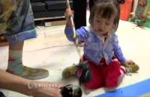 Two-year-old's paintings sell for over $1,000 [Video]