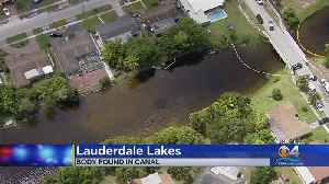 Body Pulled From Canal [Video]
