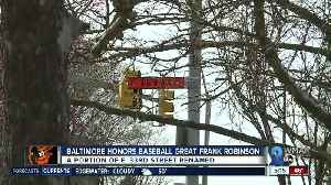 Baltimore city renames 33rd street a Frank Robinson Way [Video]