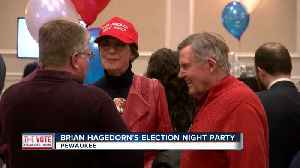 Festivities underways at Judge Brian Hagedorn's election night party [Video]