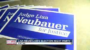 Election night party underway for Judge Lisa Neubauer [Video]