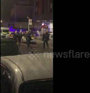 Police at scene of double stabbing in Wembley, northwest London [Video]
