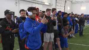Broncos showcase their skills for NFL scouts at Boise State's Pro Day [Video]