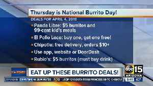 Thursday is National Burrito Day! [Video]