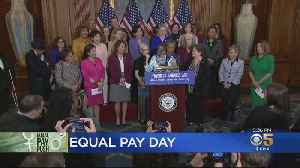 Dem. Congresswomen Discuss Gender Pay Gap On Equal Pay Day [Video]