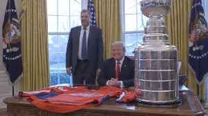 Trump With The Stanley Cup Winners At The White House [Video]