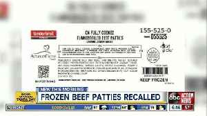 Frozen beef patties recalled due to possible plastic contamination [Video]