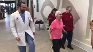 91-Year-Old Woman Amazingly Dances With Her Doctor After Spine Surgery [Video]