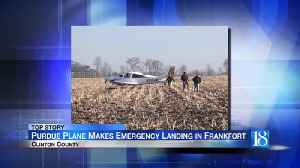 Purdue aircraft makes emergency landing in Clinton County field [Video]