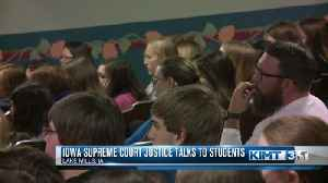 IA Supreme Court Justice Talks to Students [Video]