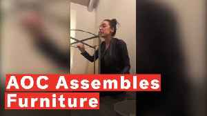 Alexandria Ocasio-Cortez Assembles Furniture While Talking Policy On Instagram Live [Video]