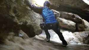 Surprise Flash Flood Engulfs Hikers In Isolated Hidden Cave [Video]