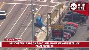 One person dead in helicopter crash in Palm River | aerials [Video]