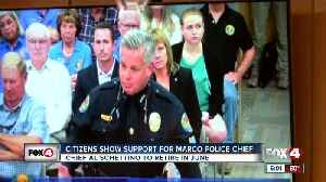 Citizens show support for retiring Marco Island police chief [Video]