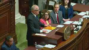Walz Appeals For Bipartisanship In First State Of State [Video]