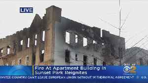 Crews Fight Hot-Spots From Sunset Park Fire [Video]