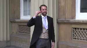 Gareth Southgate 'proud to receive OBE' from Prince of Wales [Video]