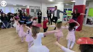 WEB EXTRA: Prince Harry Joins Ballet Class [Video]