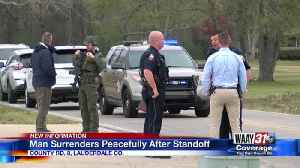 Man surrenders peacefully after standoff [Video]