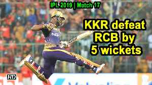 IPL 2019 | Match 17 | Russell blitzkrieg helps KKR beat RCB in thrilling tie [Video]