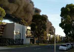 Black Smoke Billows From Melbourne Factory Fire [Video]