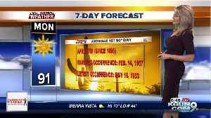 Countdown to our 1st 90° of the year [Video]