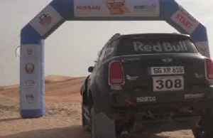 Peterhansel husband and wife pairing race to victory in desert rally [Video]