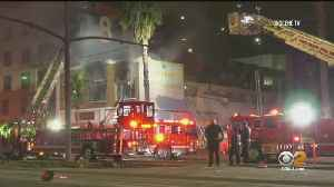 Abandoned Long Beach Building Goes Up In Flames [Video]