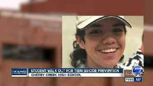 Cherry Creek HS students walk out for teen suicide prevention [Video]