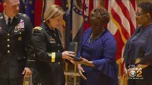 Fallen Soldier's Family Presented With Distinguished Service Cross [Video]