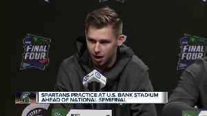 Michigan State practices in Minneapolis ahead of Final Four [Video]