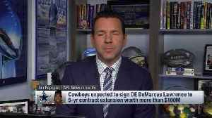 NFL Network Insider Ian Rapoport breaks down full details of Dallas Cowboys defensive end DeMarcus Lawrence's new contract [Video]