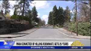 Man convicted of killing roommate, disposing of body in recycling bin, gets 25 years in prison [Video]